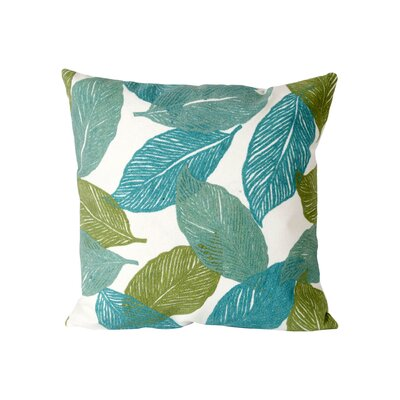 Leo Mystic Leaf Outdoor Throw Pillow Size: 20 H x 20 W, Color: Aqua