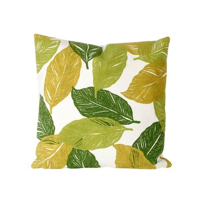 Leo Mystic Leaf Indoor/Outdoor Throw Pillow Size: 20 H x 20 W, Color: Green