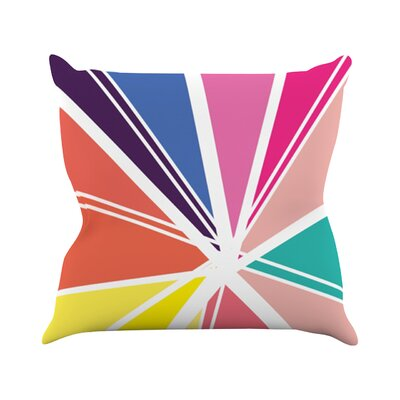 Boldly Bright Throw Pillow Size: 18 H x 18 W
