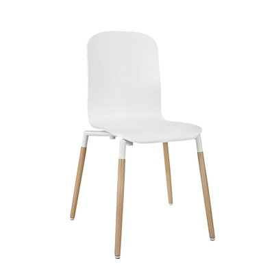 Stack Solid Wood Dining Chair Color: White