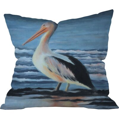 Pelican Wading Outdoor Throw Pillow Size: 26 H x 26 W x 4 D