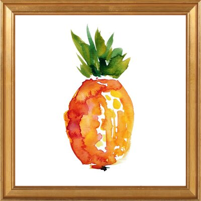 Island Pineapple Framed Giclee Print, Artfully Walls Size: 20 H x 20 W
