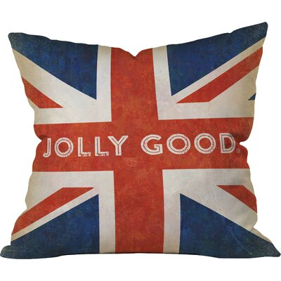 Jolly Good British Flag Outdoor Throw Pillow Size: 18 H x 18 W