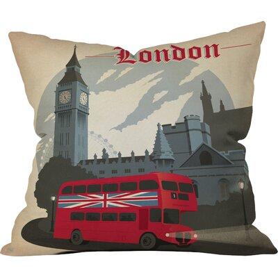 London Throw Pillow Size: 16 H x 16 W