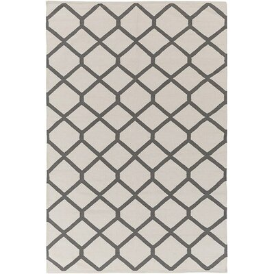 Murphree Ivory & Gray Area Rug Rug Size: Rectangle 9 x 12
