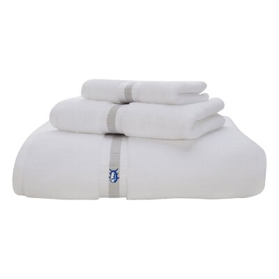 Skipjack Cotton Wash Cloth Color: White