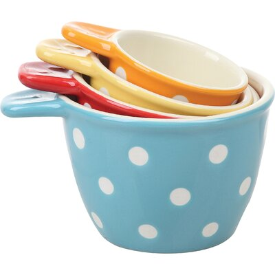4 Piece Ceramic Polka Dot Measuring Cup Set DA0095