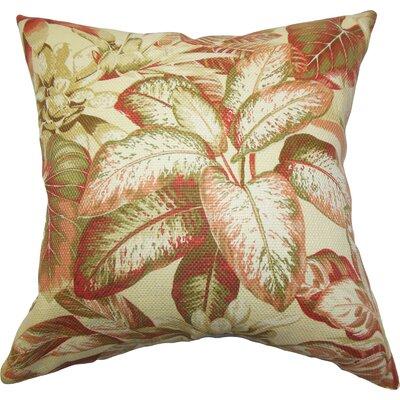Palm Cotton Throw Pillow
