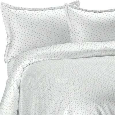Emily 3 Piece Duvet Set Size: Twin, Color: Blue
