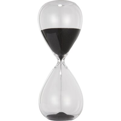 A&B Home Black Sand Hourglass DT75523-BLAC