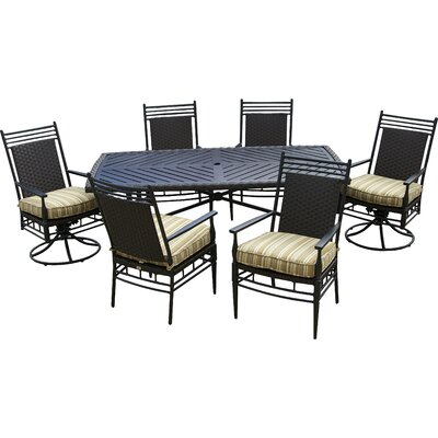 Martin Patio 7 Piece Dining Set with Cushions