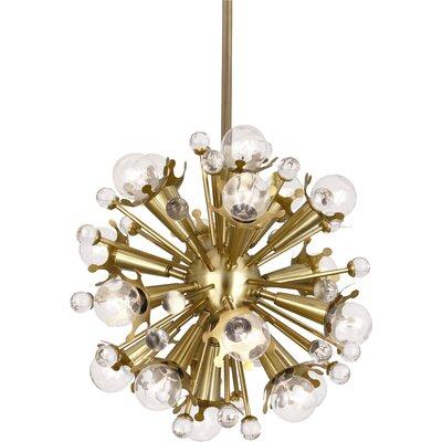 Sputnik 18-Light Globe Pendant Finish: Antique Brass