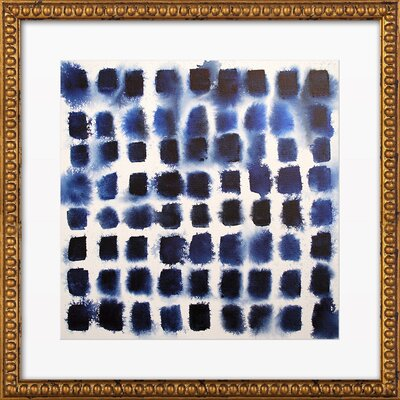Indigo Blocks Print, Artfully Walls Type: Framed