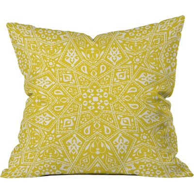 Amirah Outdoor Throw Pillow Size: 18 H x 18 W, Color: Yellow