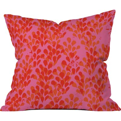 Bright Happiness Outdoor Throw Pillow Size: 26 H x 26 W