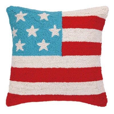 Stars and Stripes Wool Throw Pillow