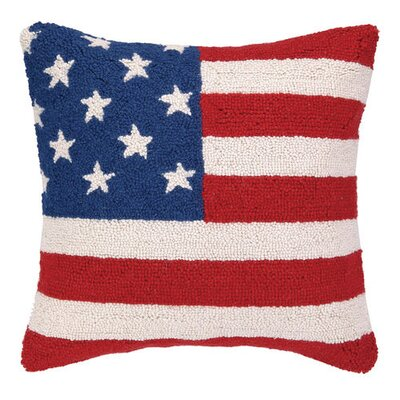 American Flag Wool Throw Pillow