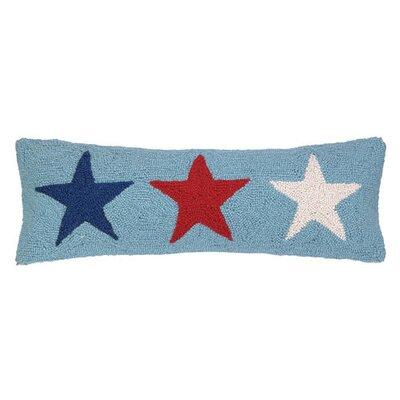 Patriotic Stars Wool Lumbar Pillow