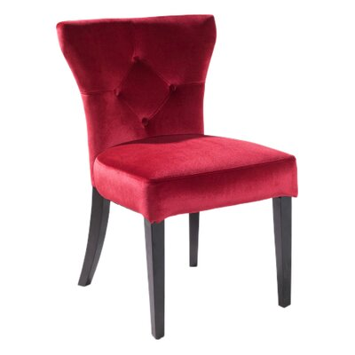 Elise Parson Chair Upholstery: Red