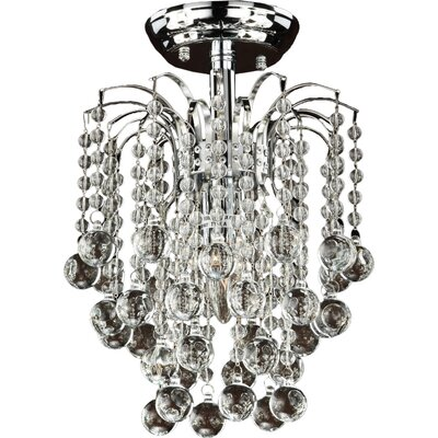 Tasya 1-Light Semi Flush Mount