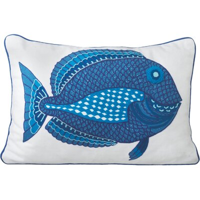 Embroidered Fish Pillow