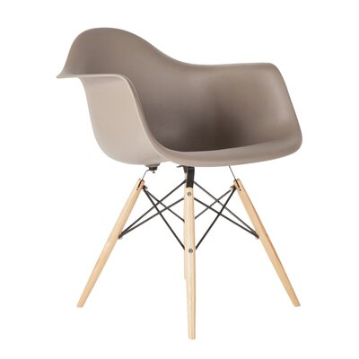 Wood Eiffel Armchair Upholstery: Grey