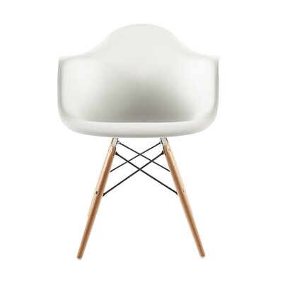 Wood Eiffel Barrel Chair Upholstery: White
