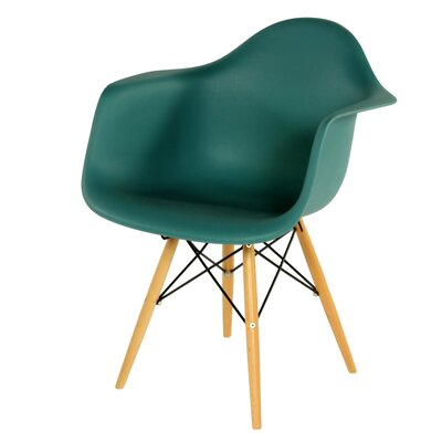Wood Eiffel Barrel Chair Upholstery: Nany Green