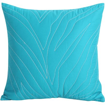 Catalina Cotton Throw Pillow Color: Turquoise