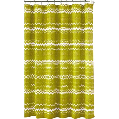 Mikaela Shower Curtain in Lemon by Kensie