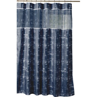 Ella Shower Curtain Color: Navy Blue