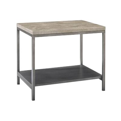Sawyer Bunching End Table in Travertine