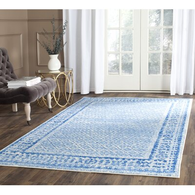 Norwell Silver & Blue Area Rug Rug Size: Rectangle 10 x 14