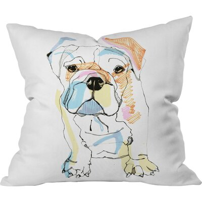 Bulldog Outdoor Throw Pillow