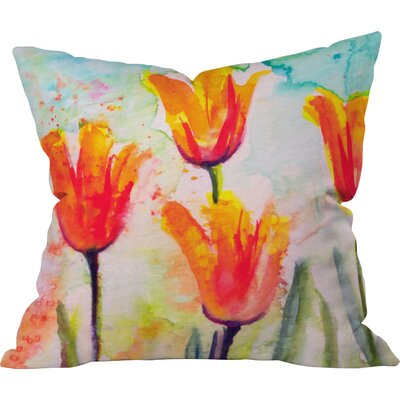 Bells of Spring Outdoor Throw Pillow