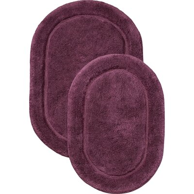 2 Piece Bath Rug Set Color: Purple