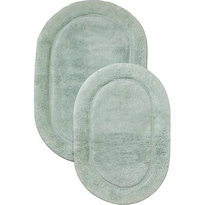 2 Piece Bath Rug Set Color: Sage