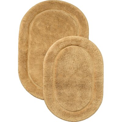 2 Piece Oval Bath Mat Set in Toast BATHRUG-OV2PC-TO