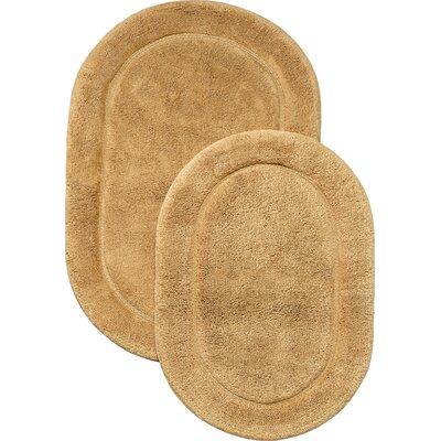 2 Piece Bath Rug Set Color: Toast