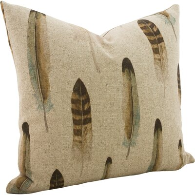 Fatima Linen Throw Pillow Size: 16 x 16