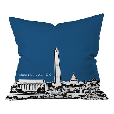 Bird Ave Washington Indoor Throw Pillow Size: 18 x 18, Color: Navy
