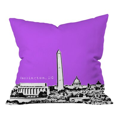 Bird Ave Washington Indoor Throw Pillow Size: 18 x 18, Color: Purple