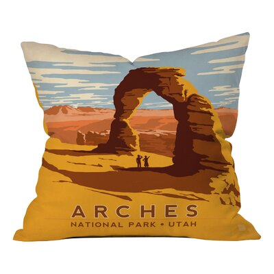 Anderson Design Group Arches Throw Pillo Size: 18 x 18