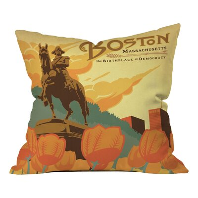 Anderson Design Group Boston Throw Pillow Size: 16 x 16