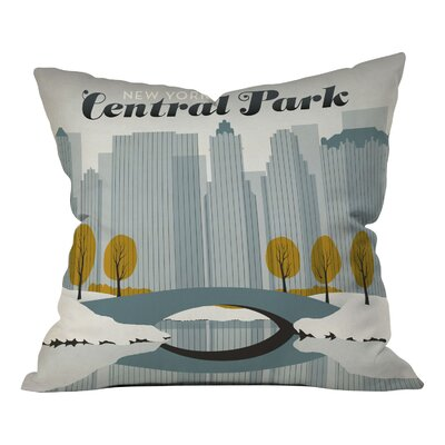 Anderson Design Group Central Park Snow Throw Pillow Size: 16 x 16