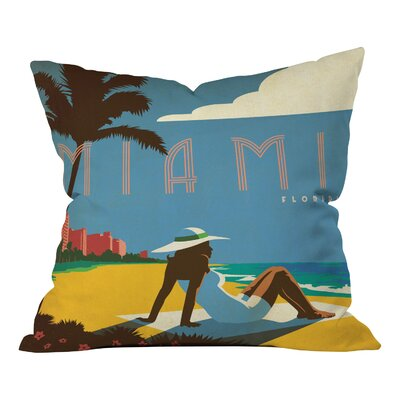 Anderson Design Group Miami Throw Pillow Size: 16 x 16