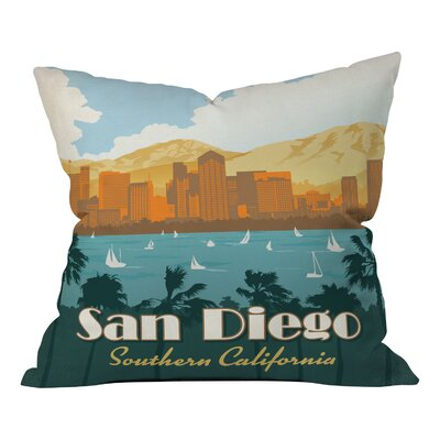 Anderson Design Group San Diego Throw Pillow Size: 18