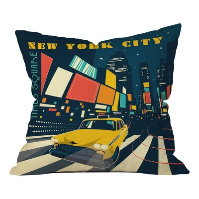 Anderson Design Group NYC Times Throw Pillow Size: Large