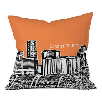 Bird Ave Denver Throw Pillow Size: 18 x 18, Color: Orange