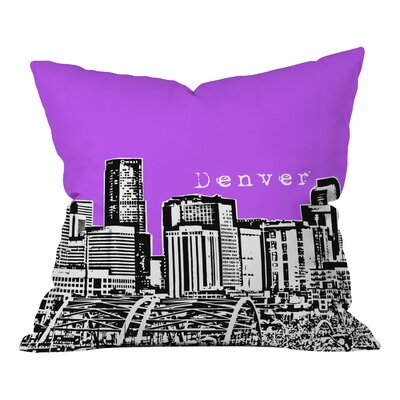 Bird Ave Denver Throw Pillow Color: Purple, Size: 16 x 16